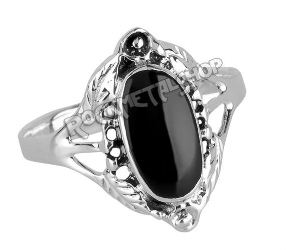 pierścionek BLACK ORNAMENT, srebro 925