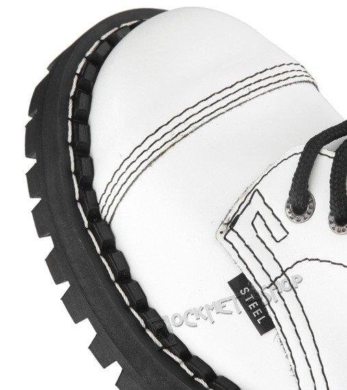 glany STEEL - FULL WHITE (15 dziurek)