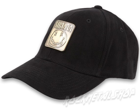 czapka NIRVANA - METAL BADGE FLEX CAP