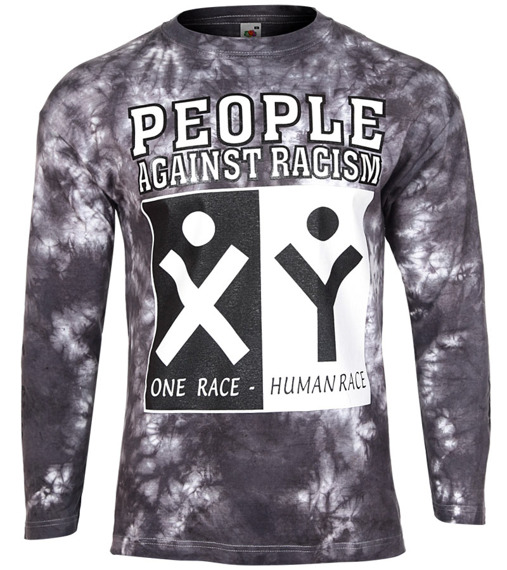 longsleeve PEOPLE AGAINST RACISM barwiony