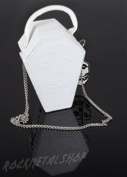 Torebka MISFITS - WHITE EMBOSSED COFFIN CASE PURSE