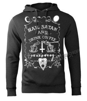 bluza BLACK CRAFT - HAIL SATAN DRINK COFFEE, kangurka z kapturem