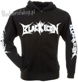 bluza BLACK ICON - CRAZY BETTY czarna, rozpinana z kapturem (HZICON082)