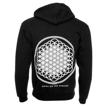 bluza BRING ME THE HORIZON - FLOWER OF LIFE, rozpinana z kapturem