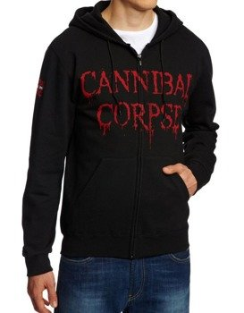bluza CANNIBAL CORPSE - CAGED CONTORTED , rozpinana z kapturem