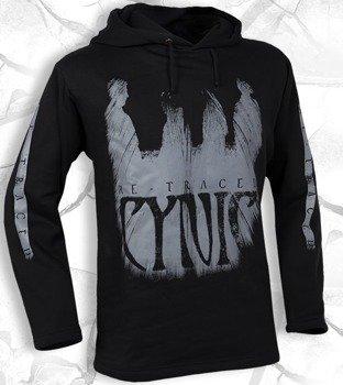 bluza CYNIC - RE-TRACED czarna, z kapturem