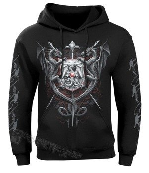 bluza DRAGON KINGDOM czarna, z kapturem