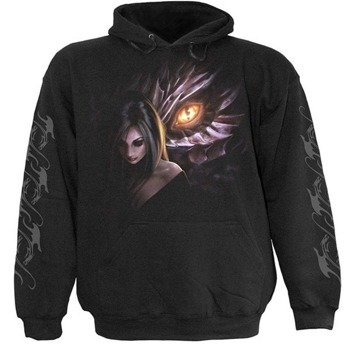 bluza DRAGON MAIDEN czarna, z kapturem