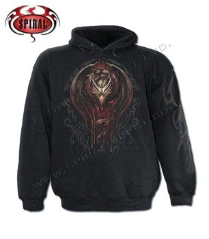 bluza DRAGON TATTOO czarna, z kapturem