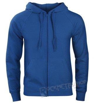 bluza FRUIT OF THE LOOM - ROYAL BLUE bez nadruku, rozpinana z kapturem