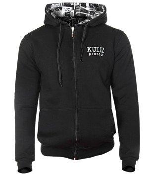 bluza KULT - PROSTO czarna, z kapturem