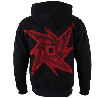 bluza METALLICA - RED NINJA STAR, rozpinana z kapturem