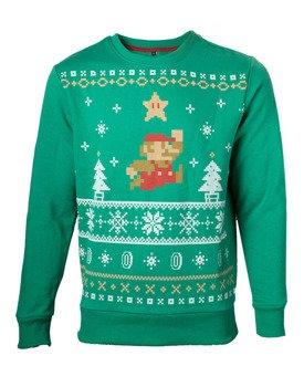 bluza NINTENDO - CHRISTMAS SWEATER, bez kaptura