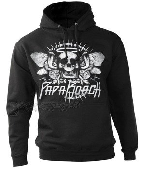 bluza PAPA ROACH - COBRA SKULL czarna, kangurka z kapturem