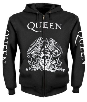 bluza QUEEN WHITE rozpinana, z kapturem