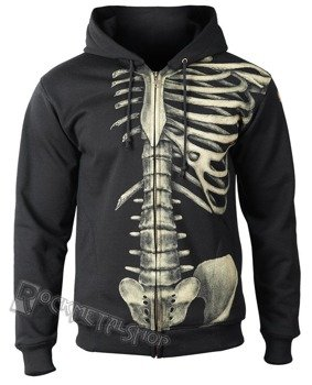 bluza SKELETON, rozpinana z kapturem