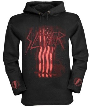 bluza SLAYER - FLAG czarna, z kapturem