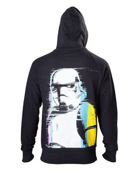 bluza STAR WARS - RETRO STORMTROOPER, rozpinana z kapturem