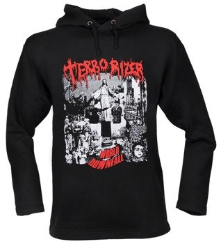 bluza TERRORIZER - WORLD DOWNFALL czarna, z kapturem
