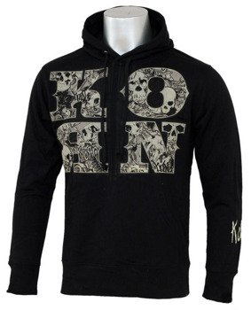 bluza z kapturem KORN - SKULL AND LETTER