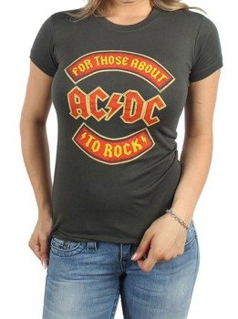 bluzka damska AC/DC - ABOUT TO ROCK BANNER