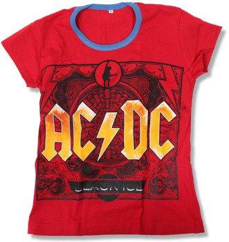 bluzka damska AC/DC - BLACK ICE czerwona