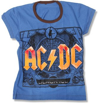 bluzka damska AC/DC - BLACK ICE niebieska