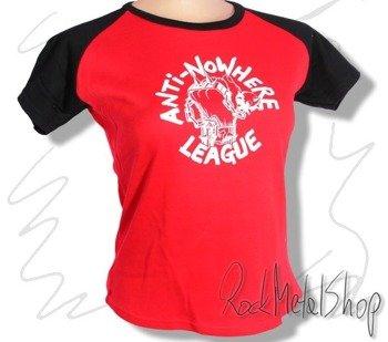 bluzka damska ANTI NOWHERE LEAGUE - WHITE LOGO B/B GIRLS