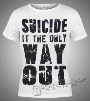 bluzka damska BLACK ICON - SUICIDE (DICON148 WHITE)