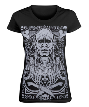 bluzka damska BLACK ICON - TRIBAL WARRIOR (DICON067 BLACK)