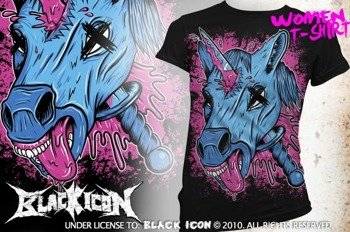 bluzka damska BLACK ICON - UNICORPSE (DICON105 BLACK)