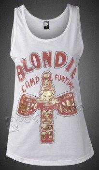 bluzka damska  BLONDIE - CAMP FUN TIME, na ramiączkach  WHITE