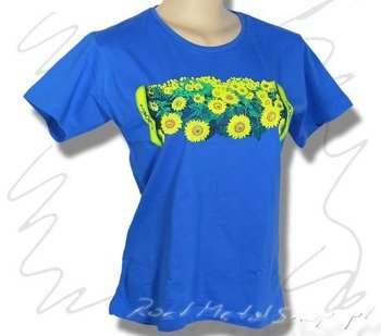 bluzka damska FLOWERS niebieska