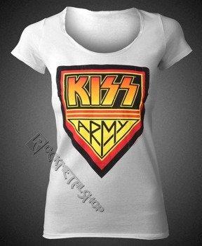 bluzka damska KISS - DISTRESSED ARMY WHITE