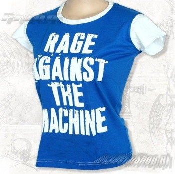 bluzka damska RAGE AGAINST THE MACHINE niebieska