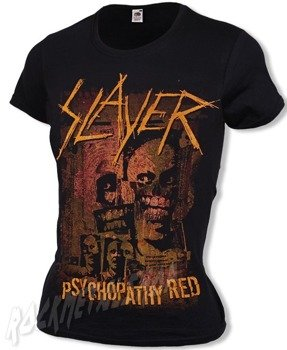 bluzka damska SLAYER - PSYCHOPATHY RED
