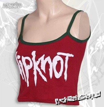 bluzka damska SLIPKNOT - LOGO czerwona, na ramiączkach