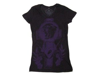 bluzka damska SOMETHING SACRED - Tiger Cross One color V-neck