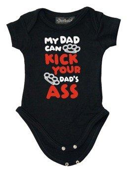 body dziecięce MY DAD CAN KICK YOUR DAD'S ASS czarne