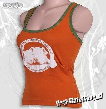 bokserka damska ZWIERZĘTA SĄ MOIMI PRZYJACIÓŁMI pomarańczowa
