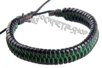 bransoletka czarno-zielona