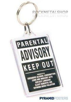 brelok PARENTAL ADVISORY KEEP OUT PK0244