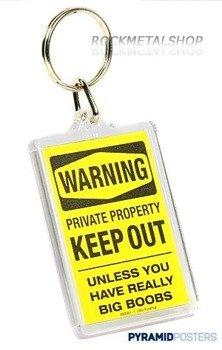 brelok do kluczy WARNING SIGN - BOOBS (PK0351)