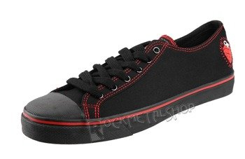 buty DRAVEN - GREEN DAY LOW black/red