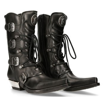 buty NEW ROCK ITALI NEGRO, WEST NEGRO ACERO [M.7993-S1]