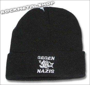czapka GEGEN NAZIS czarna
