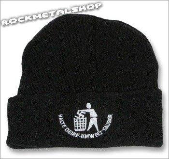 czapka HALTE DEINE UMWELT SAUBER czarna