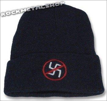 czapka NO NAZI granatowa