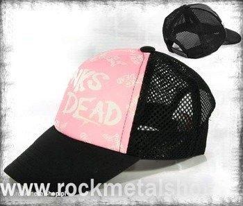 czapka PUNKS NOT DEAD - PINK  (Z)