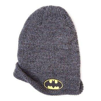 czapka zimowa BATMAN - LOGO szara